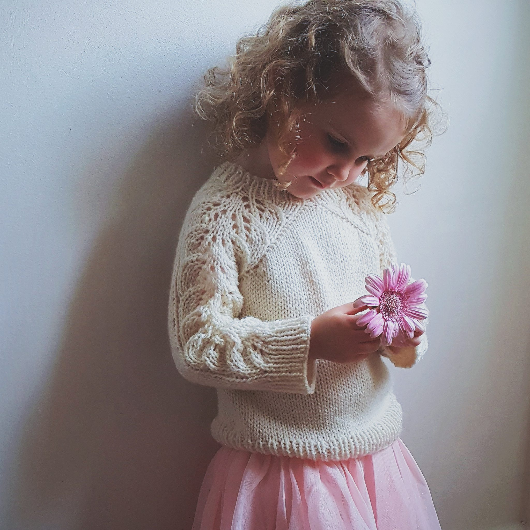 Bloomsbury kids Sweater with The Fibre Co. Cumbria.