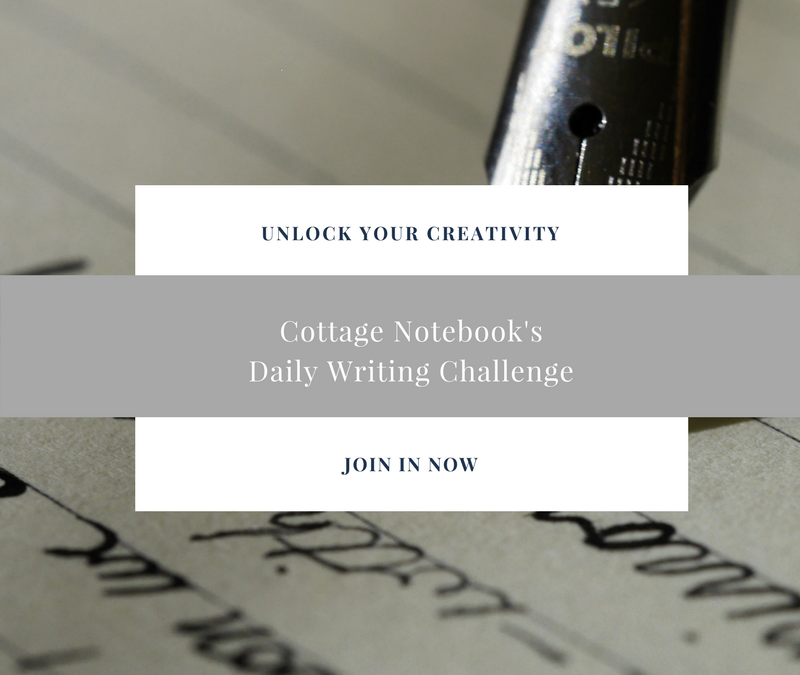 Cottage Notebook Writing Challenge