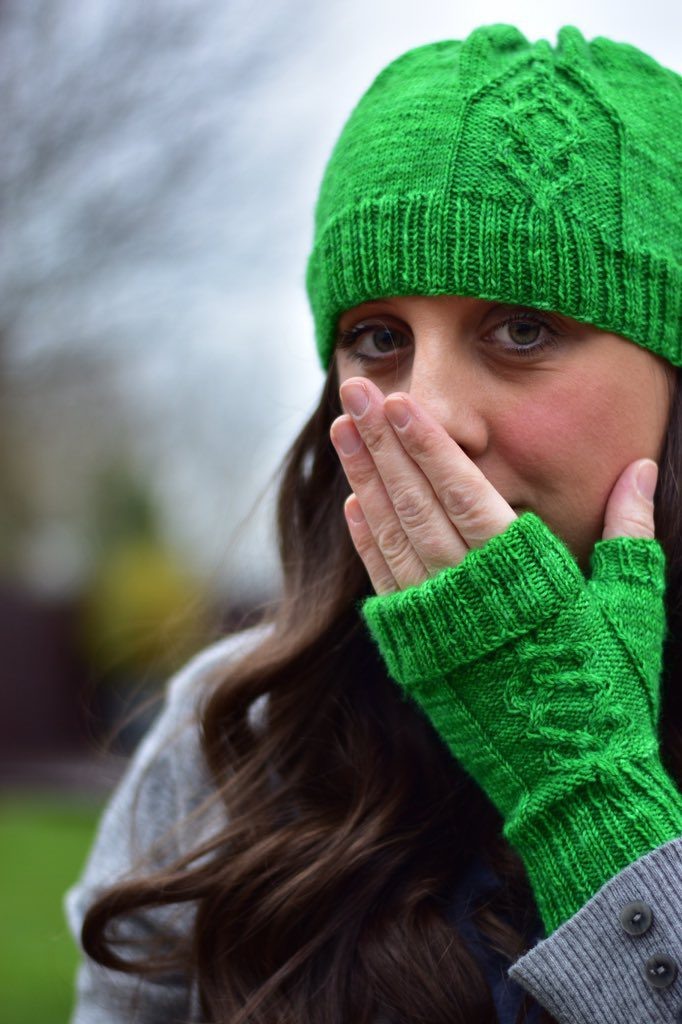 Irish Love by Gillian Harkness with yarn by Green Elephant Yarn.