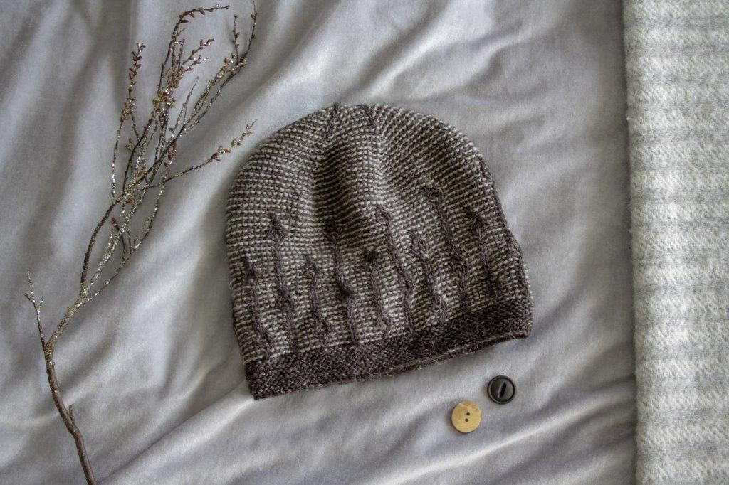 Joyce in Stolen Stitches Nua yarn pattern by Woolly Wormhead photo by cottage Notebook - Nadia Seaver