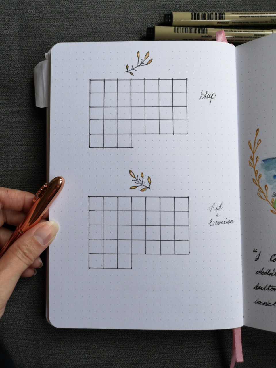 July Bullet Journal Set Up