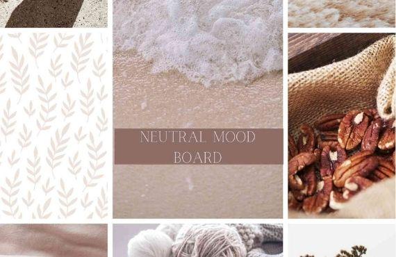 Free Neutral Aesthetics Mood Board