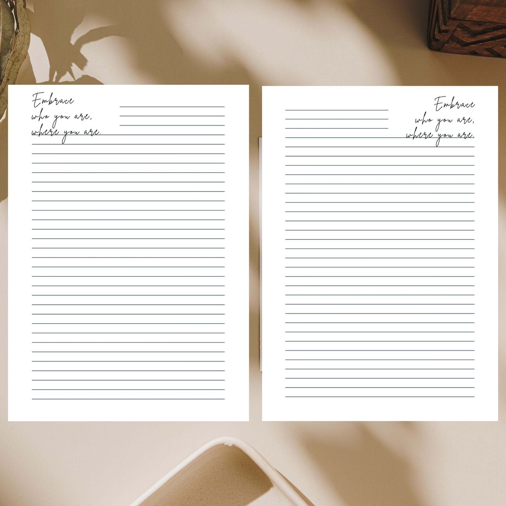 Printable Stationary from the Cottage Notebook